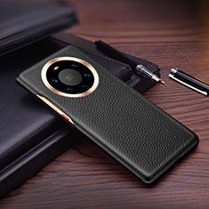 Handyhülle Hülle Luxus Leder Schutzhülle L01 für Huawei Mate 40 Pro+ Plus Schwarz