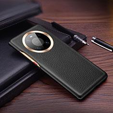 Handyhülle Hülle Luxus Leder Schutzhülle L01 für Huawei Mate 40 Schwarz