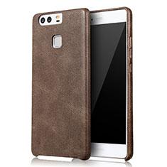 Handyhülle Hülle Luxus Leder Schutzhülle L01 für Huawei P9 Plus Braun