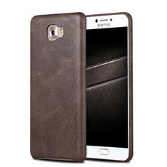 Handyhülle Hülle Luxus Leder Schutzhülle L01 für Samsung Galaxy C5 Pro C5010 Braun