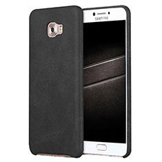 Handyhülle Hülle Luxus Leder Schutzhülle L01 für Samsung Galaxy C7 Pro C7010 Schwarz