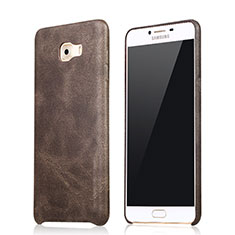 Handyhülle Hülle Luxus Leder Schutzhülle L01 für Samsung Galaxy C9 Pro C9000 Braun