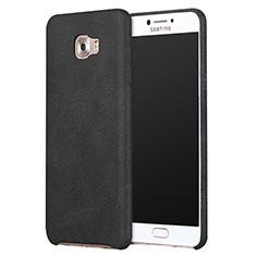 Handyhülle Hülle Luxus Leder Schutzhülle L01 für Samsung Galaxy C9 Pro C9000 Schwarz