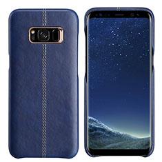 Handyhülle Hülle Luxus Leder Schutzhülle L01 für Samsung Galaxy S8 Blau