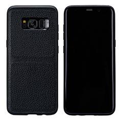 Handyhülle Hülle Luxus Leder Schutzhülle L01 für Samsung Galaxy S8 Plus Schwarz