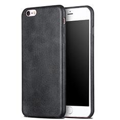 Handyhülle Hülle Luxus Leder Schutzhülle L02 für Apple iPhone 6S Plus Schwarz