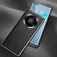 Handyhülle Hülle Luxus Leder Schutzhülle L02 für Huawei Mate 40 Pro+ Plus Schwarz