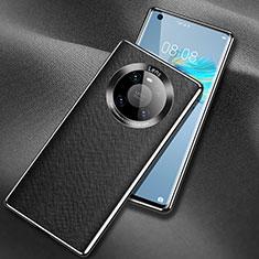 Handyhülle Hülle Luxus Leder Schutzhülle L02 für Huawei Mate 40 Schwarz