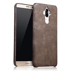 Handyhülle Hülle Luxus Leder Schutzhülle L02 für Huawei Mate 9 Braun