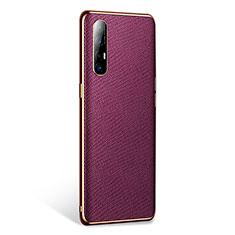 Handyhülle Hülle Luxus Leder Schutzhülle L02 für Oppo Find X2 Neo Violett