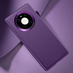 Handyhülle Hülle Luxus Leder Schutzhülle L03 für Huawei Mate 40 Violett