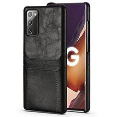 Handyhülle Hülle Luxus Leder Schutzhülle N02 für Samsung Galaxy Note 20 5G Schwarz