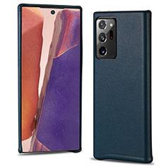 Handyhülle Hülle Luxus Leder Schutzhülle N02 für Samsung Galaxy Note 20 Ultra 5G Cyan