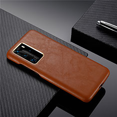 Handyhülle Hülle Luxus Leder Schutzhülle N05 für Huawei P40 Pro Braun