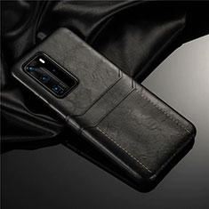Handyhülle Hülle Luxus Leder Schutzhülle N06 für Huawei P40 Pro Schwarz