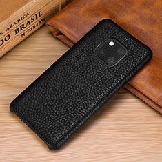 Handyhülle Hülle Luxus Leder Schutzhülle P01 für Huawei Mate 20 Pro Schwarz