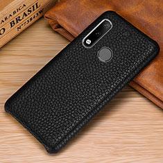 Handyhülle Hülle Luxus Leder Schutzhülle P01 für Huawei P30 Lite Schwarz