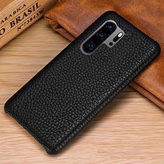 Handyhülle Hülle Luxus Leder Schutzhülle P01 für Huawei P30 Pro Schwarz