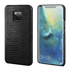 Handyhülle Hülle Luxus Leder Schutzhülle P02 für Huawei Mate 20 Pro Schwarz