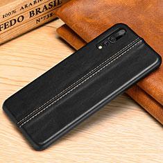 Handyhülle Hülle Luxus Leder Schutzhülle P02 für Huawei P20 Pro Schwarz