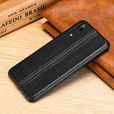 Handyhülle Hülle Luxus Leder Schutzhülle P02 für Huawei P20 Schwarz