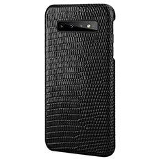 Handyhülle Hülle Luxus Leder Schutzhülle P02 für Samsung Galaxy S10 Schwarz