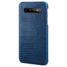 Handyhülle Hülle Luxus Leder Schutzhülle P02 für Samsung Galaxy S10e Blau