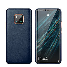 Handyhülle Hülle Luxus Leder Schutzhülle P03 für Huawei Mate 20 Pro Blau