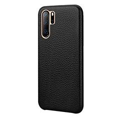Handyhülle Hülle Luxus Leder Schutzhülle P04 für Huawei P30 Pro Schwarz