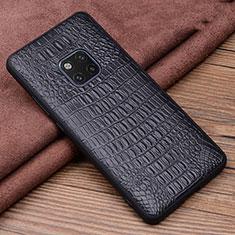Handyhülle Hülle Luxus Leder Schutzhülle R01 für Huawei Mate 20 Pro Schwarz