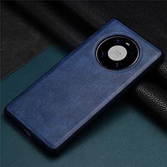 Handyhülle Hülle Luxus Leder Schutzhülle R01 für Huawei Mate 40 Blau