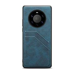Handyhülle Hülle Luxus Leder Schutzhülle R01 für Huawei Mate 40 Pro+ Plus Blau