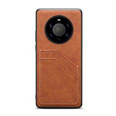 Handyhülle Hülle Luxus Leder Schutzhülle R01 für Huawei Mate 40 Pro+ Plus Braun