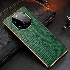 Handyhülle Hülle Luxus Leder Schutzhülle R01 für Huawei Mate 40 RS Grün
