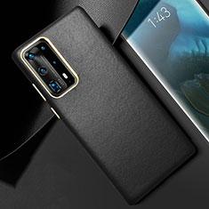 Handyhülle Hülle Luxus Leder Schutzhülle R01 für Huawei P40 Pro+ Plus Schwarz