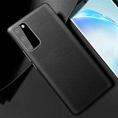 Handyhülle Hülle Luxus Leder Schutzhülle R01 für Samsung Galaxy S20 5G Schwarz