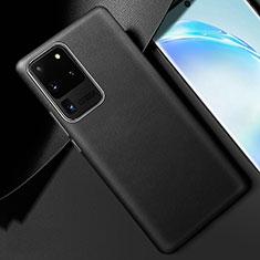 Handyhülle Hülle Luxus Leder Schutzhülle R01 für Samsung Galaxy S20 Ultra Schwarz