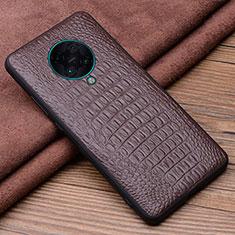 Handyhülle Hülle Luxus Leder Schutzhülle R01 für Xiaomi Poco F2 Pro Braun