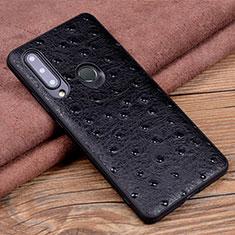 Handyhülle Hülle Luxus Leder Schutzhülle R02 für Huawei Honor 20i Schwarz