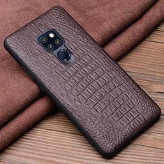 Handyhülle Hülle Luxus Leder Schutzhülle R02 für Huawei Mate 20 Braun