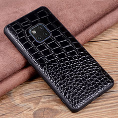 Handyhülle Hülle Luxus Leder Schutzhülle R02 für Huawei Mate 20 Pro Schwarz