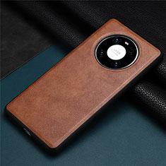 Handyhülle Hülle Luxus Leder Schutzhülle R02 für Huawei Mate 40 Pro Braun
