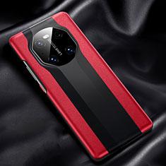 Handyhülle Hülle Luxus Leder Schutzhülle R02 für Huawei Mate 40 Rot