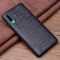 Handyhülle Hülle Luxus Leder Schutzhülle R02 für Huawei P30 Schwarz