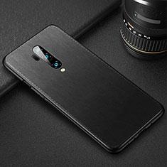 Handyhülle Hülle Luxus Leder Schutzhülle R02 für OnePlus 7T Pro Schwarz