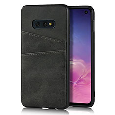 Handyhülle Hülle Luxus Leder Schutzhülle R02 für Samsung Galaxy S10e Schwarz