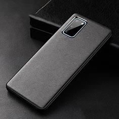 Handyhülle Hülle Luxus Leder Schutzhülle R02 für Samsung Galaxy S20 5G Schwarz