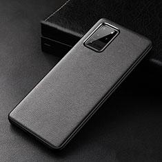 Handyhülle Hülle Luxus Leder Schutzhülle R02 für Samsung Galaxy S20 Ultra 5G Schwarz