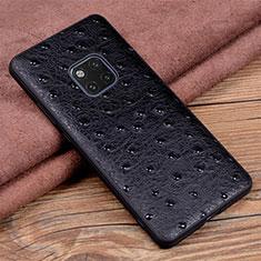 Handyhülle Hülle Luxus Leder Schutzhülle R03 für Huawei Mate 20 Pro Schwarz