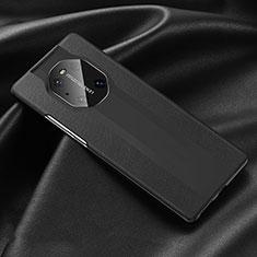 Handyhülle Hülle Luxus Leder Schutzhülle R03 für Huawei Mate 40 Pro Schwarz